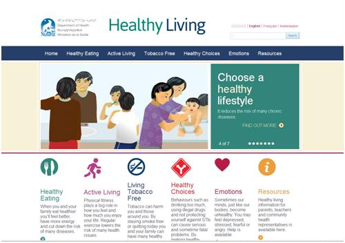 Healthy Living information is now available on a new website